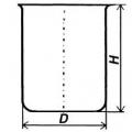 Стакан кварцевый низкий НБН-1600 мл