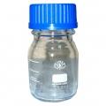 банка для реактивов светлое стекло 250мл с синей крышкой Simax