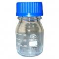 банка для реактивов светлое стекло 100мл с синей крышкой Simax